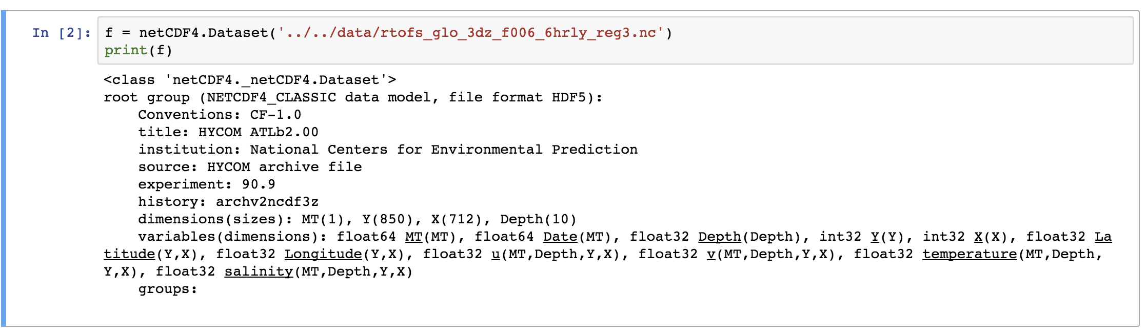 Reading NetCDF4 Data in Python - Institute of Earth Sciences
