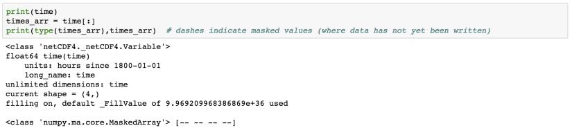 Writing NetCDF4 Data using Python - Institute of Earth